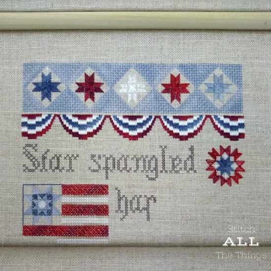 Stitch ALL The Things   Jeanette Douglas Patriotic Sampler WIP