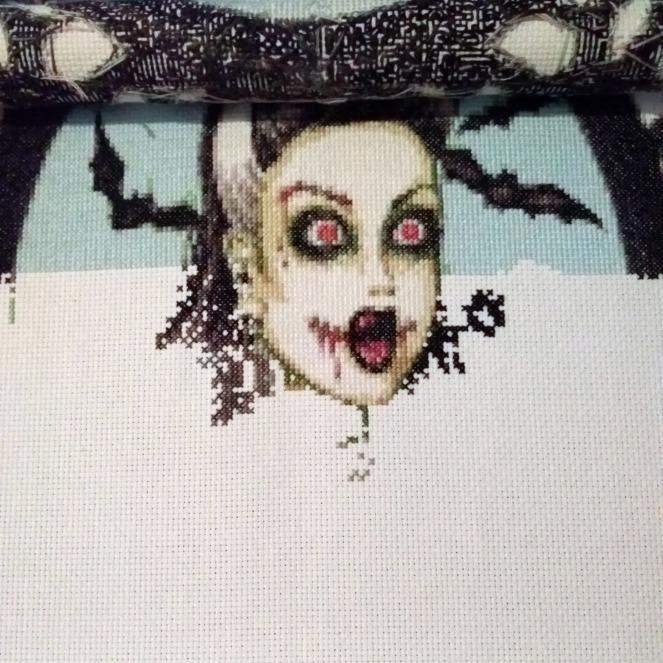 Stitch ALL The Things | Burlesque Zombie Portrait 9-1 Progress