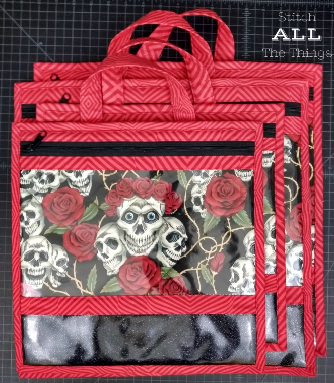 Stitch ALL The Things | Skulls and Roses Bags