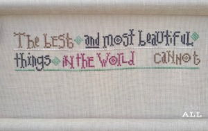 Stitch ALL The Things | Lizzie Kate Things Unseen Progress