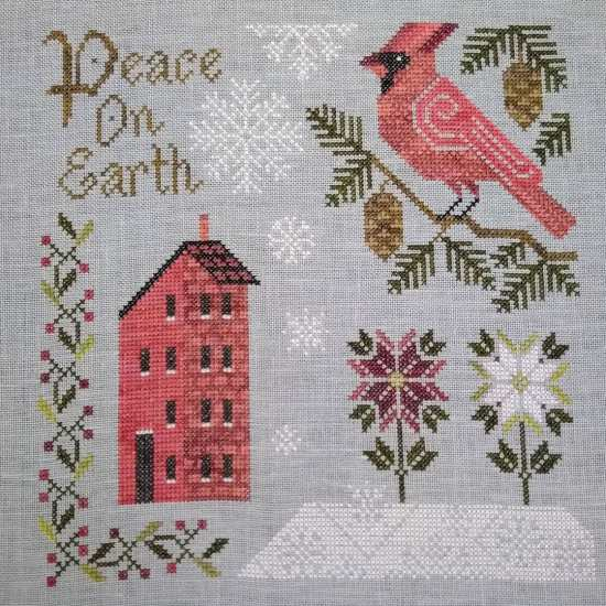 Stitch ALL The Things | Cottage Garden Samplings Peace On Earth Finish