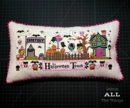 Stitch ALL The Things | Halloween Town Pillow