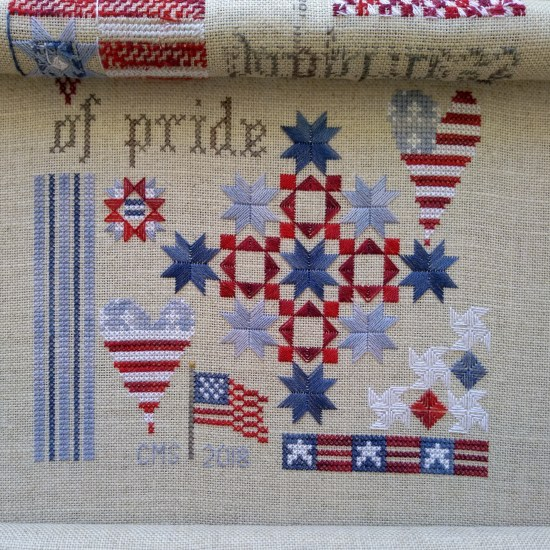 Stitch ALL The Things | Patriotic Sampler update