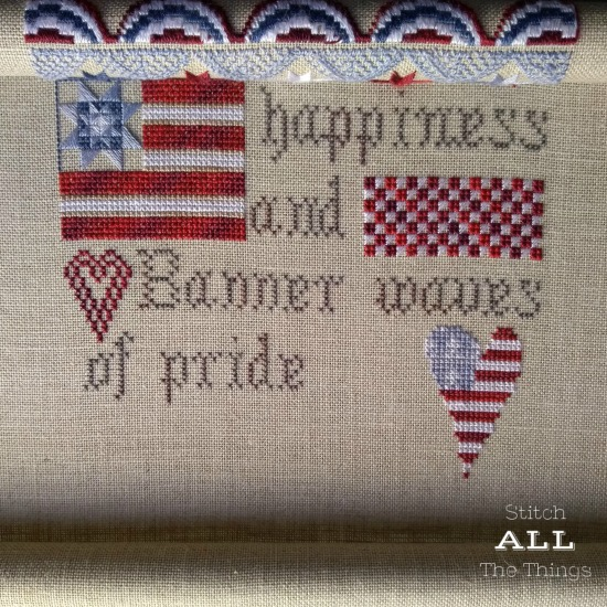 Stitch ALL The Things | Patriotic Sampler Progress