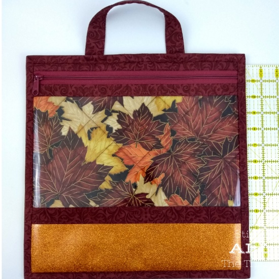 Stitch ALL The Things | 13 x 13 Fall Leaves Clear Vinyl Front Bag