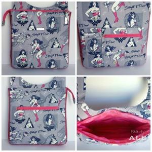 Stitch ALL The Things   Wonder Woman Hyacinth Bag