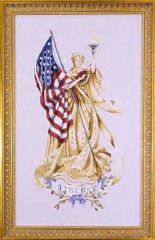 Lady Of The Flag by Miriabilia