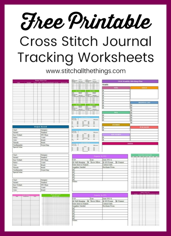 Stitch ALL The Things | Free Cross Stitch Tracking Worksheets