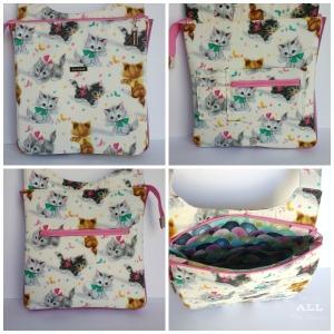 Stitch ALL The Things | Kitties Hyacinth Bag