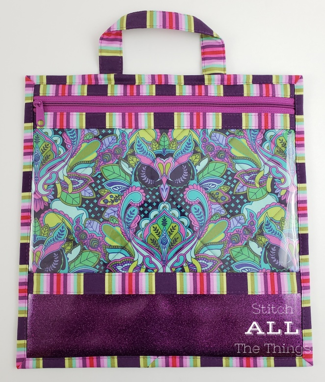 Stitch ALL The Things | Tula Pink Owl Purple Project Bag