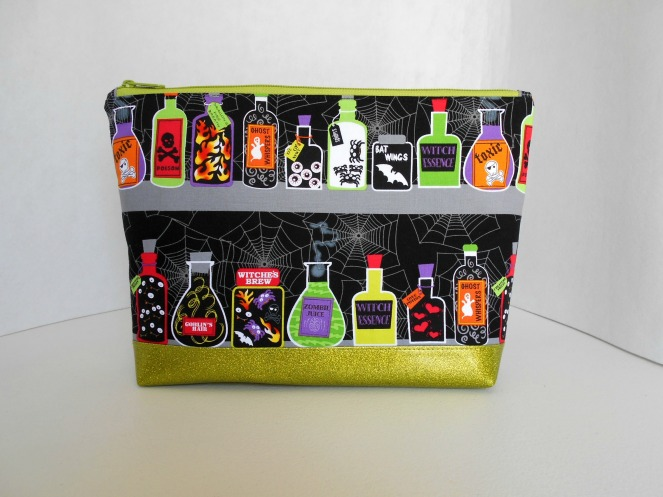 Stitch ALL The Things | Potions Glitter Vinyl Bottom Project Bag
