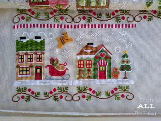 Stitch ALL The Things | Santa's Village WIP