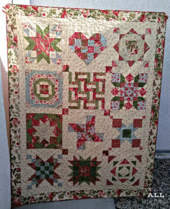 Stitch ALL The Things | Finished 2013 Aurifil Designer BOM quilt