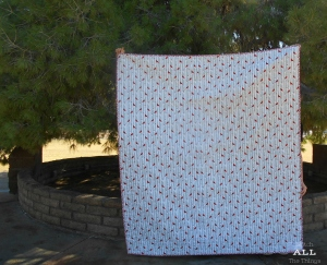Stitch ALL The Things | The Alpine Quilt Backing Cardinals in Gray