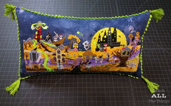Stitch ALL The Things | Ship's Manor Mystery Halloween Town Pillow
