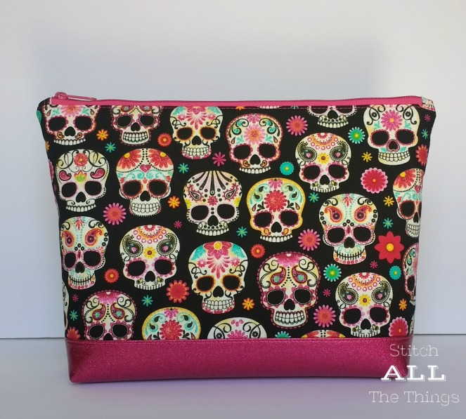 Stitch ALL The Things | Sugar Skull Zip Top Bag