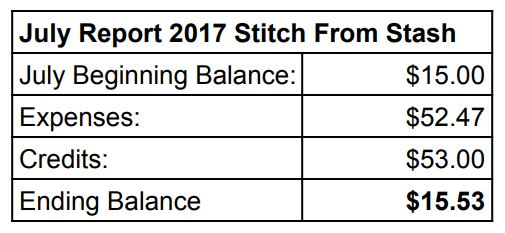 Stitch ALL The Things | July 2017 SFS Report