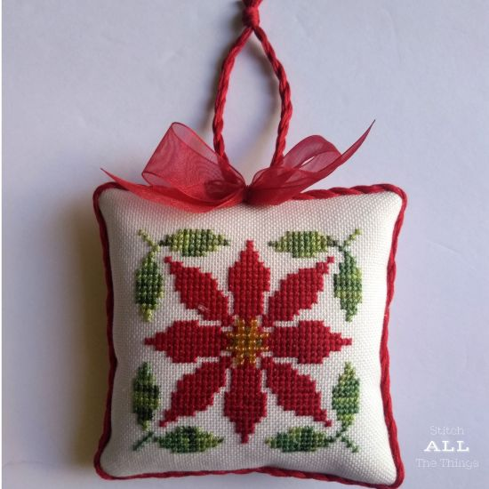 Stitch ALL The Things | Poinsettia Ornament