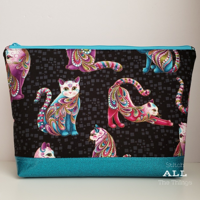 Stitch ALL The Things | Sugar Skull Cats Teal