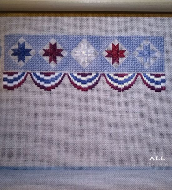 Stitch ALL The Things | Patriotic Sampler Progress 7-29